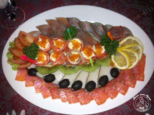 Украшение рыбы к столу фото